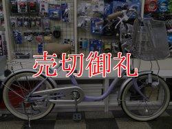 画像1: 〔中古自転車〕マルイシ ふらっか〜ずカーゴミニ 20インチ シングル 超低床フレーム設計 前輪オートロック リモートレバーライト ローラーブレーキ パープル