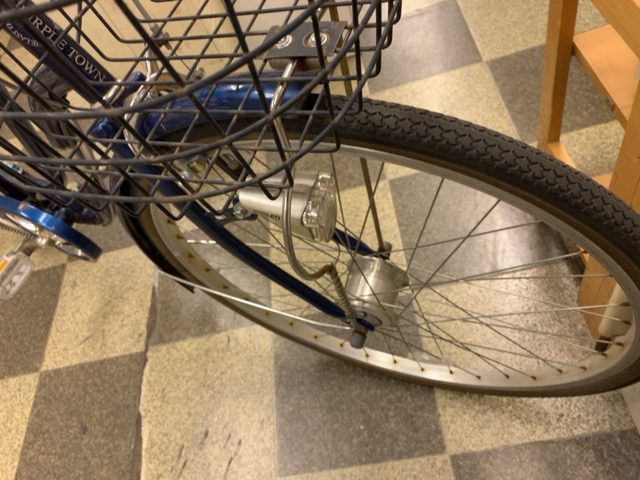 画像2: 〔中古自転車〕シティサイクル 26インチ 外装6段変速 LEDオートライト ローラーブレーキ BAA自転車安全基準適合 ダークブルー